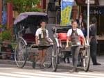 rickshaws in Toyko, Japan