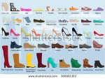 stock-vector-set-with-different-types-of-women-s-woman-s-shoes-ballets-sneakers-boots-flats-collection-380881363